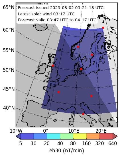 dB/dt 30min Forecast